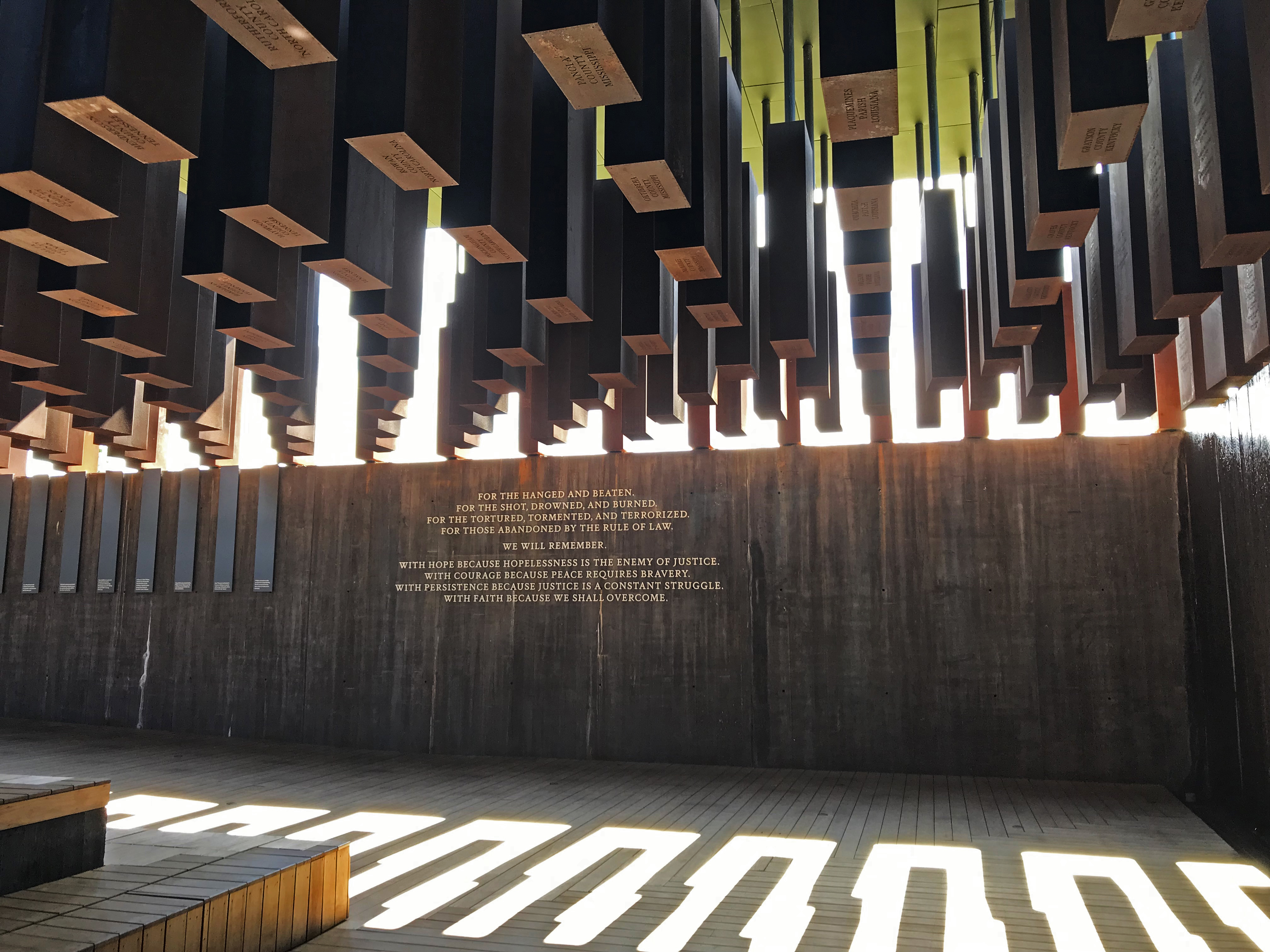 National Memorial for Peace and Justice in Montgomery, Alabama