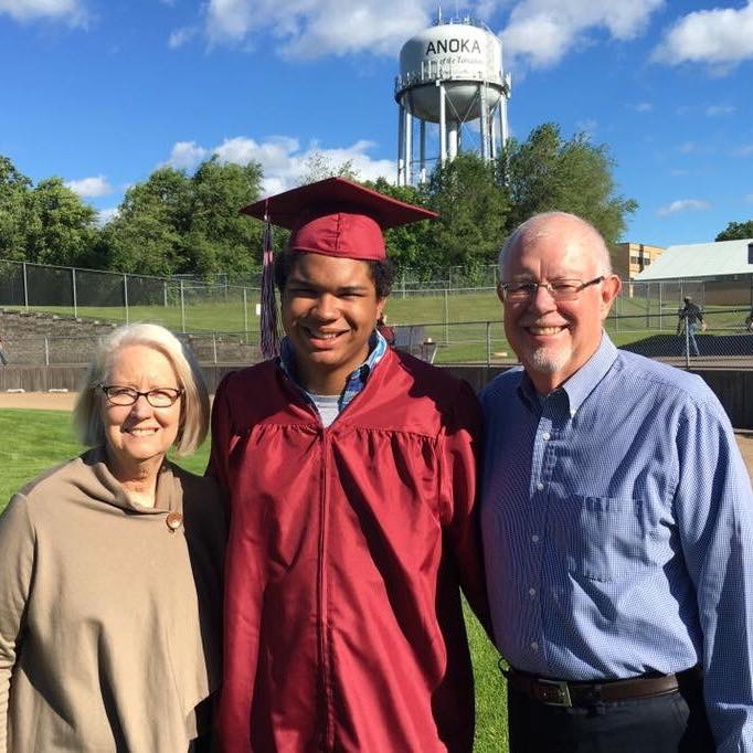 Justin and his grandparents
