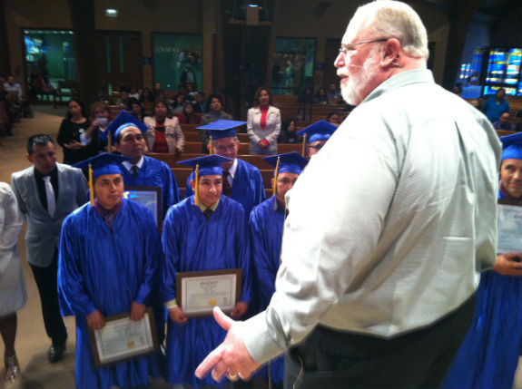 EFCA President Bill Hamel celebrating GATEWAY graduates