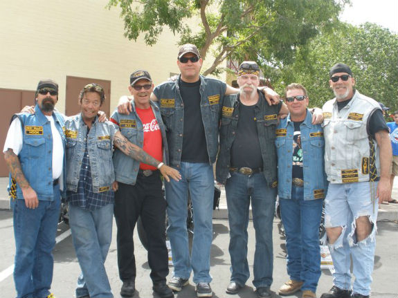 "Drew (at center) enjoys deepening relationships with his fellow bikers. ""They know my faith,"" he says. ""Some have embraced it. Most have not. But they all know that I love them, and they love me."" Photo courtesy Drew Arliskas"